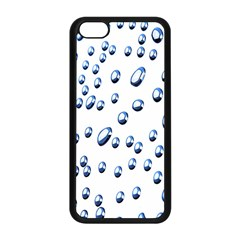 Water Drops On White Background Apple Iphone 5c Seamless Case (black)