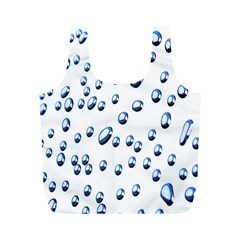 Water Drops On White Background Full Print Recycle Bags (m)