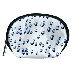 Water Drops On White Background Accessory Pouches (Medium)