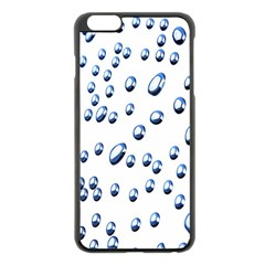 Water Drops On White Background Apple iPhone 6 Plus/6S Plus Black Enamel Case