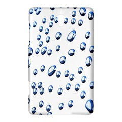 Water Drops On White Background Samsung Galaxy Tab S (8.4 ) Hardshell Case