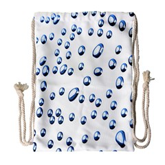 Water Drops On White Background Drawstring Bag (Large)