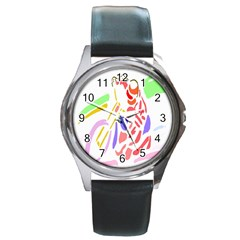 Motorcycle Racing The Slip Motorcycle Round Metal Watch