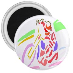 Motorcycle Racing The Slip Motorcycle 3  Magnets