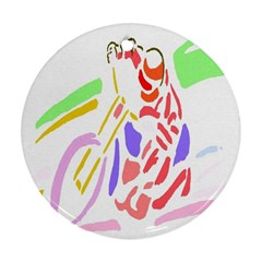 Motorcycle Racing The Slip Motorcycle Ornament (Round)