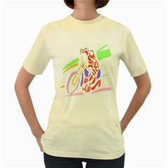 Motorcycle Racing The Slip Motorcycle Women s Yellow T-Shirt