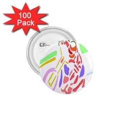Motorcycle Racing The Slip Motorcycle 1.75  Buttons (100 pack)
