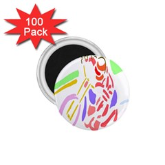 Motorcycle Racing The Slip Motorcycle 1 75  Magnets (100 Pack)