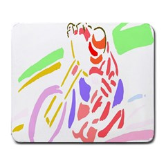Motorcycle Racing The Slip Motorcycle Large Mousepads