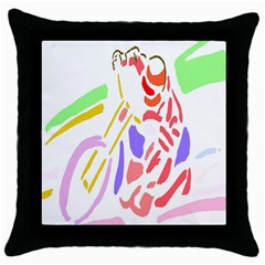 Motorcycle Racing The Slip Motorcycle Throw Pillow Case (Black)