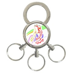 Motorcycle Racing The Slip Motorcycle 3-Ring Key Chains