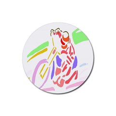 Motorcycle Racing The Slip Motorcycle Rubber Coaster (round)
