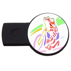 Motorcycle Racing The Slip Motorcycle USB Flash Drive Round (2 GB)