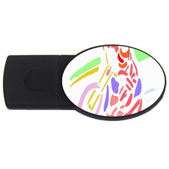 Motorcycle Racing The Slip Motorcycle Usb Flash Drive Oval (2 Gb)