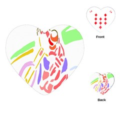 Motorcycle Racing The Slip Motorcycle Playing Cards (Heart)
