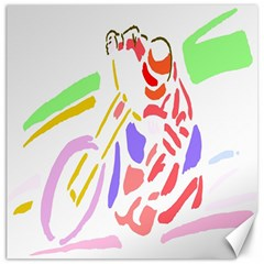 Motorcycle Racing The Slip Motorcycle Canvas 20  x 20