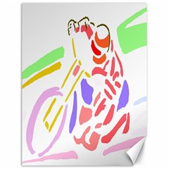 Motorcycle Racing The Slip Motorcycle Canvas 18  x 24