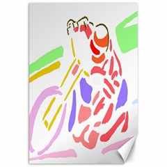 Motorcycle Racing The Slip Motorcycle Canvas 20  x 30