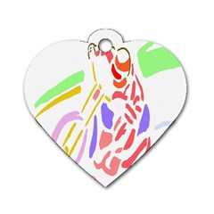 Motorcycle Racing The Slip Motorcycle Dog Tag Heart (Two Sides)