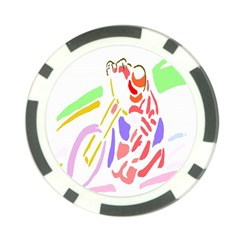 Motorcycle Racing The Slip Motorcycle Poker Chip Card Guard