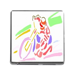 Motorcycle Racing The Slip Motorcycle Memory Card Reader (Square)