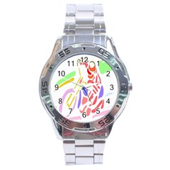 Motorcycle Racing The Slip Motorcycle Stainless Steel Analogue Watch