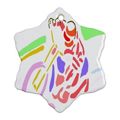 Motorcycle Racing The Slip Motorcycle Snowflake Ornament (Two Sides)