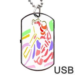 Motorcycle Racing The Slip Motorcycle Dog Tag USB Flash (Two Sides)