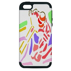 Motorcycle Racing The Slip Motorcycle Apple iPhone 5 Hardshell Case (PC+Silicone)