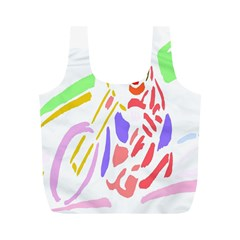 Motorcycle Racing The Slip Motorcycle Full Print Recycle Bags (M)
