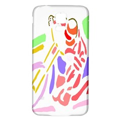 Motorcycle Racing The Slip Motorcycle Samsung Galaxy S5 Back Case (White)