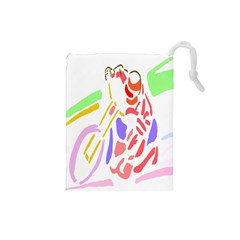Motorcycle Racing The Slip Motorcycle Drawstring Pouches (Small)