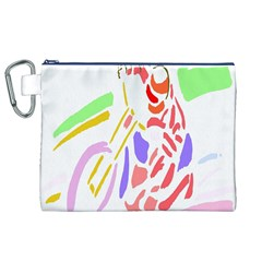 Motorcycle Racing The Slip Motorcycle Canvas Cosmetic Bag (xl)