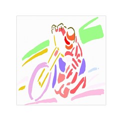 Motorcycle Racing The Slip Motorcycle Small Satin Scarf (square)