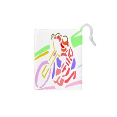 Motorcycle Racing The Slip Motorcycle Drawstring Pouches (XS)