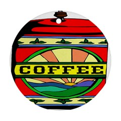 Coffee Tin A Classic Illustration Ornament (Round)