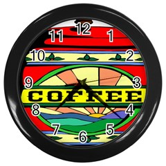 Coffee Tin A Classic Illustration Wall Clocks (Black)