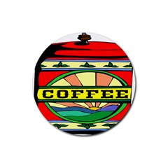 Coffee Tin A Classic Illustration Rubber Coaster (Round)