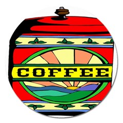 Coffee Tin A Classic Illustration Magnet 5  (Round)