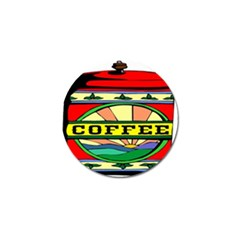 Coffee Tin A Classic Illustration Golf Ball Marker