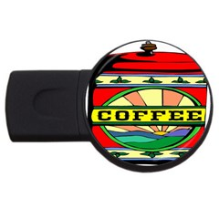 Coffee Tin A Classic Illustration USB Flash Drive Round (1 GB)