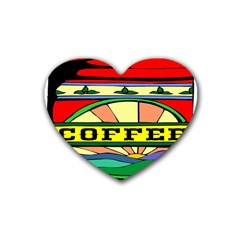 Coffee Tin A Classic Illustration Heart Coaster (4 pack)