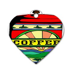 Coffee Tin A Classic Illustration Dog Tag Heart (one Side)