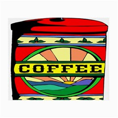 Coffee Tin A Classic Illustration Small Glasses Cloth (2 Side)