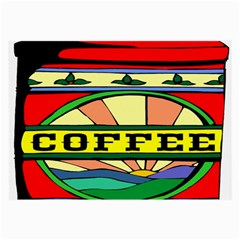 Coffee Tin A Classic Illustration Large Glasses Cloth (2-Side)