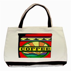 Coffee Tin A Classic Illustration Basic Tote Bag (Two Sides)