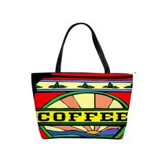 Coffee Tin A Classic Illustration Shoulder Handbags