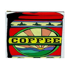 Coffee Tin A Classic Illustration Cosmetic Bag (xl)