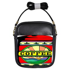 Coffee Tin A Classic Illustration Girls Sling Bags