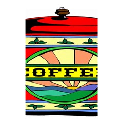 Coffee Tin A Classic Illustration Shower Curtain 48  X 72  (small)